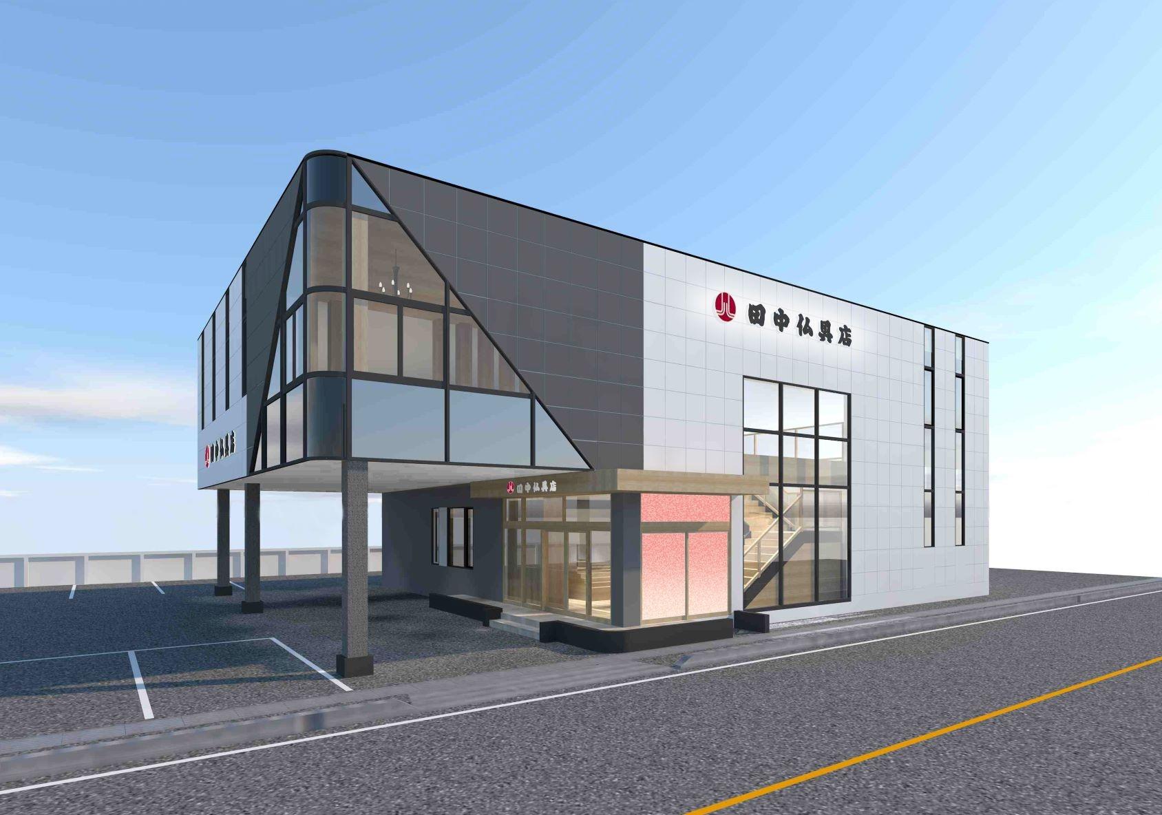 蒲郡市拾石町にある広い駐車場を完備した店舗