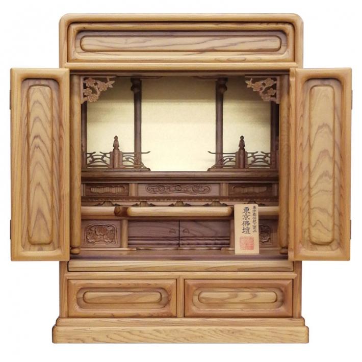 唐木仏壇 伝統工芸品 東京仏壇「屋久杉製仏壇」23号