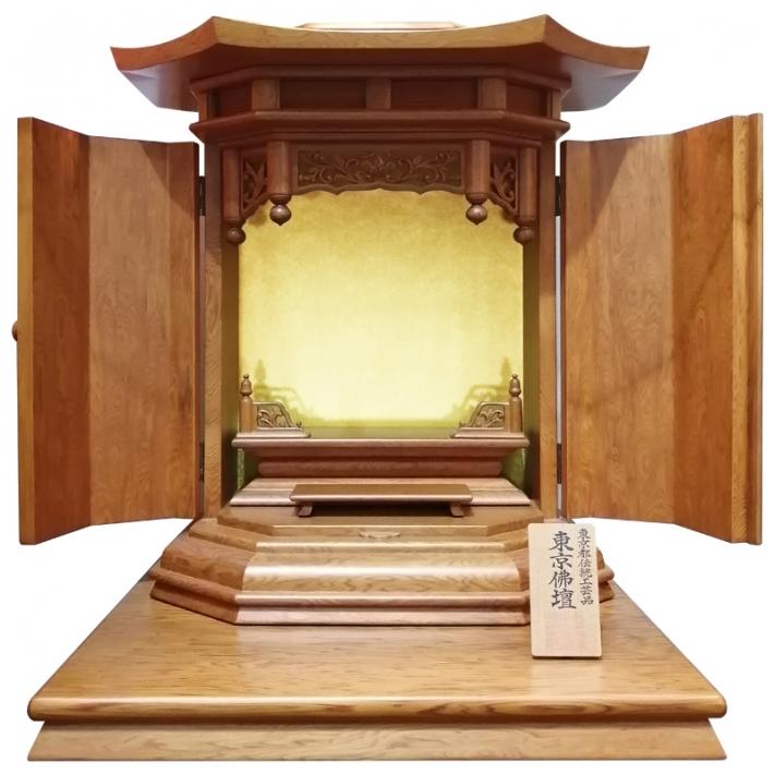 伝統工芸品 東京仏壇「屋久杉製厨子型仏壇」18号