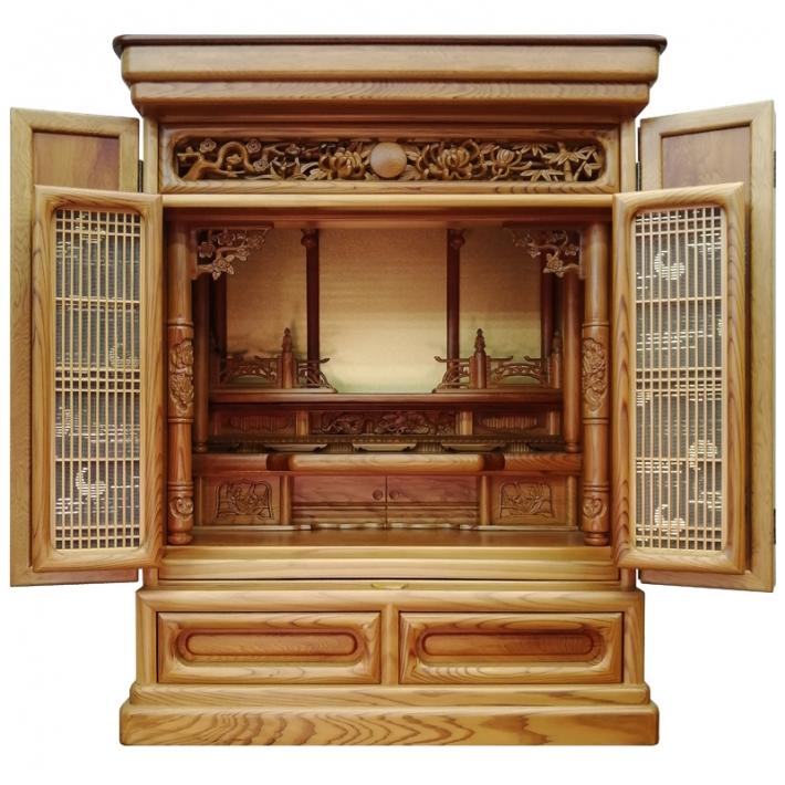 唐木仏壇 伝統工芸品 東京仏壇「屋久杉製仏壇 」25号